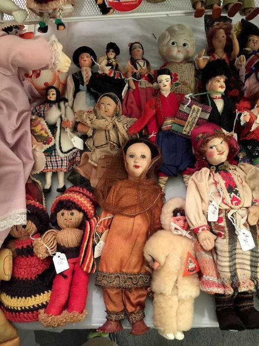 Native Costume Dolls.