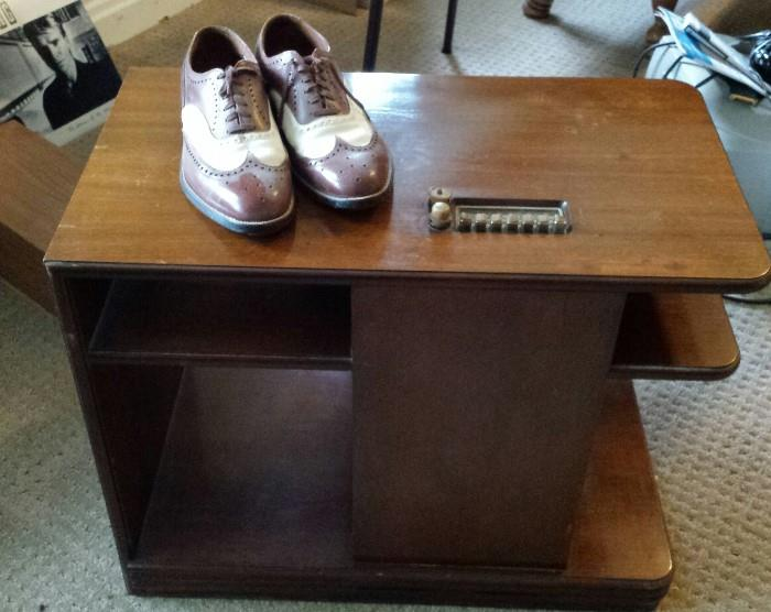 """Philco table and """"cool"""" men's tap shoes"""