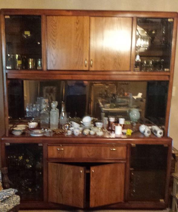 Contemporary china cabinet, barware