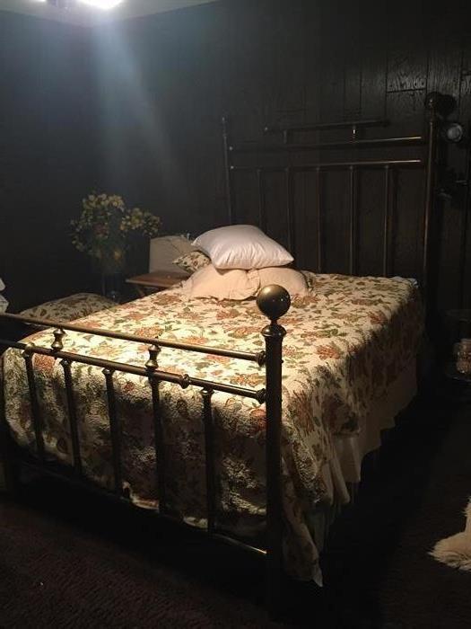 Antique brass bed