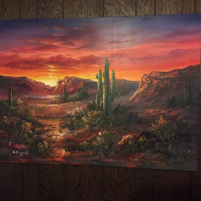 Desert original oil painting by Dugger