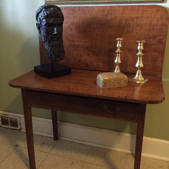American Antique Tiger Maple Card Table