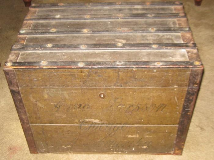 1856 SHIPPING TRUNK FROM ENGLAND