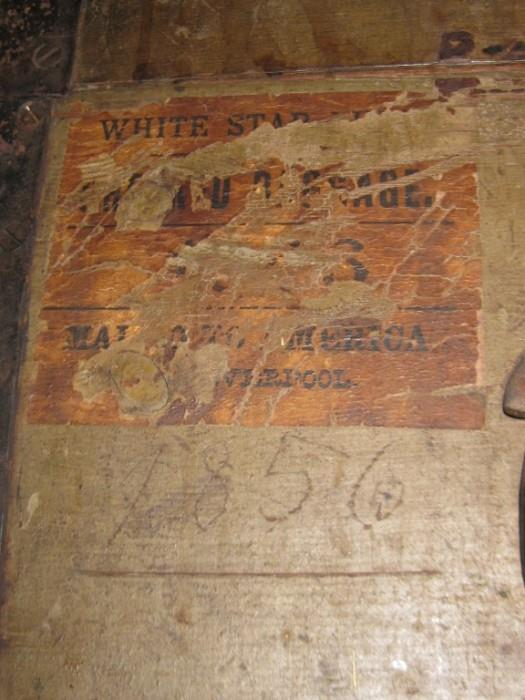 WHITE STAR LINES LIVERPOOL 1856