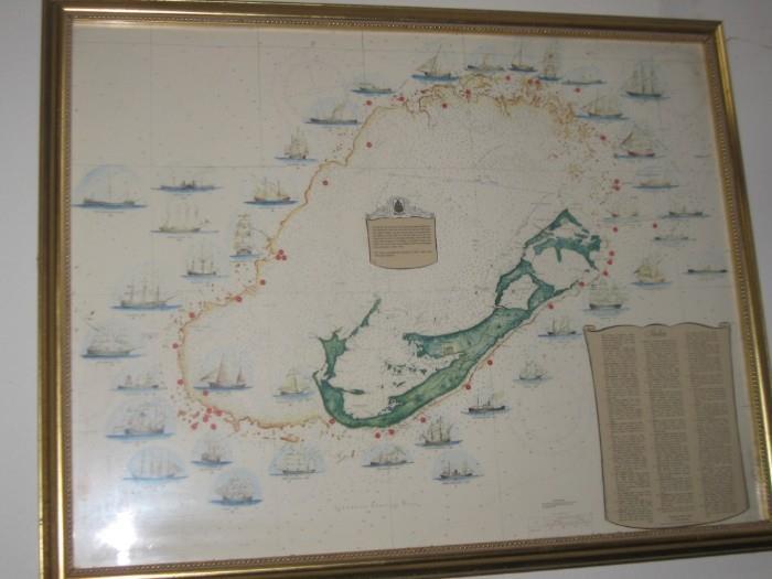 MAP OF BERMUDA SHIPWRECKS