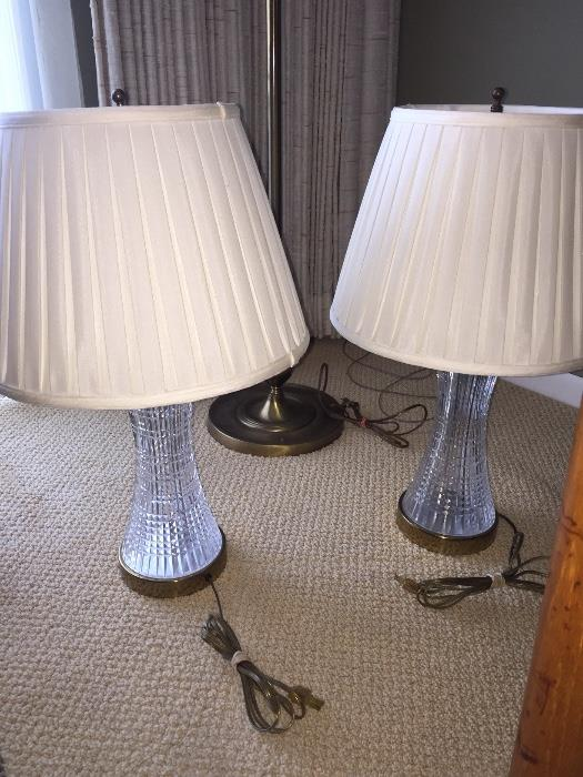 TWO WATERFORD CRYSTAL LAMPS