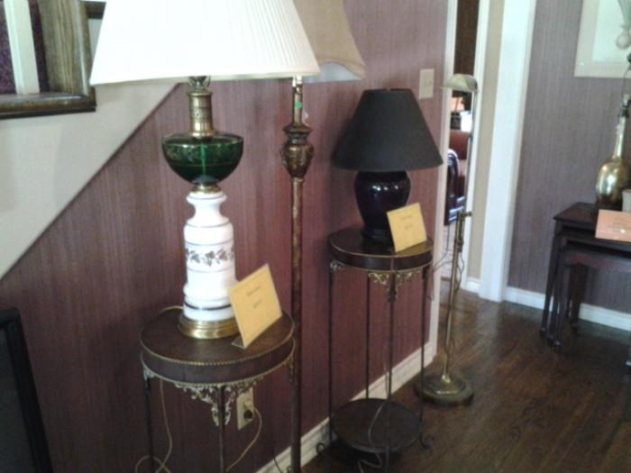 lamps and Plant stands