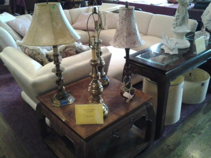 Lamps and End Table