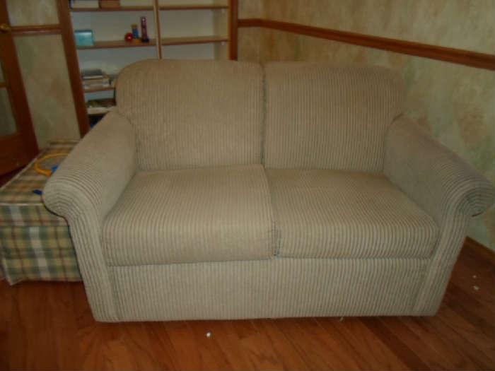 nice loveseat sofa bed, nice & clean