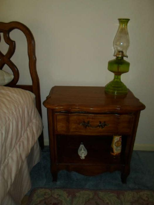 nightstand, looks like pecan