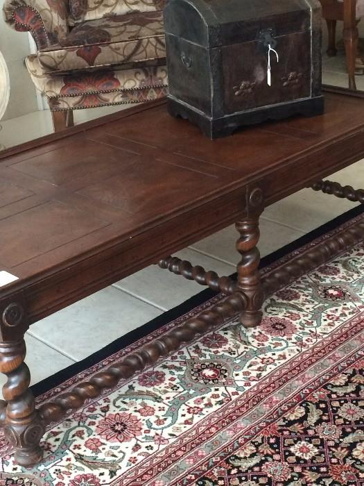 Fabulous barley twist coffee table