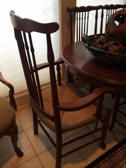 Hickory Hill table & 6 chairs