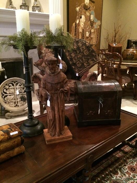 St. Francis and other decorative items