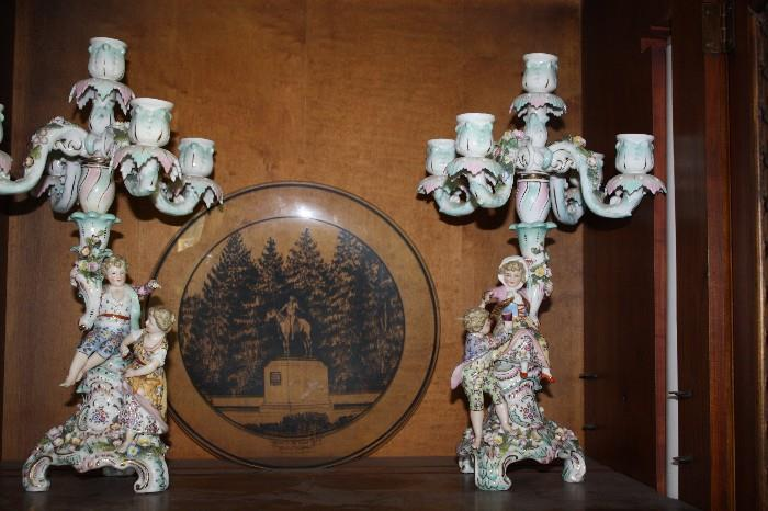 FRENCH CANDLE HOLDERS
