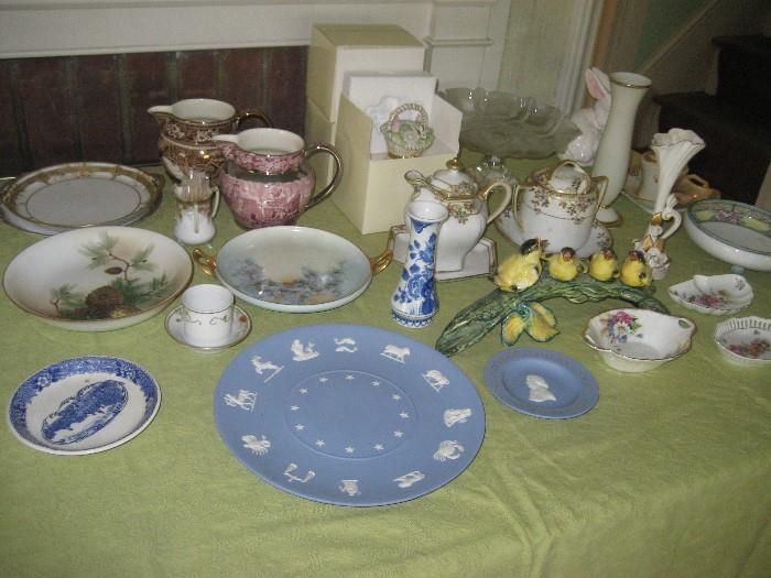 Assorted Glassware Like Stangl, Wedgwood, Lenox and Nippon