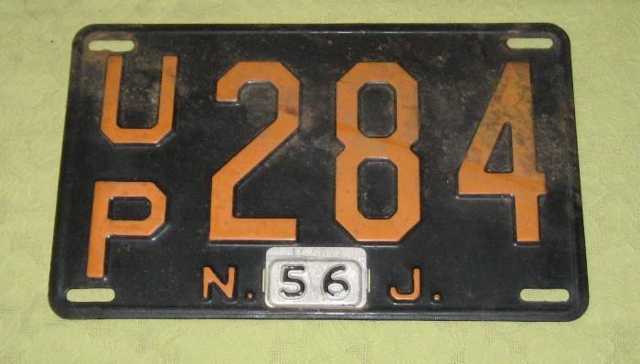Vintage NJ License Plate