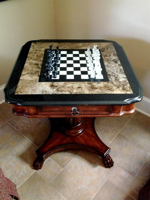 Marble Top Chess Tables