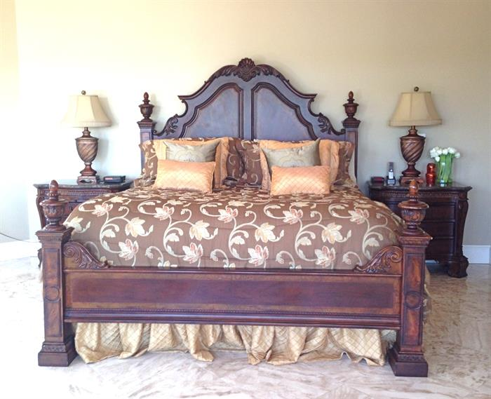 King Bed by American Signature with Duponi Silk Spread