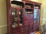 Handcrafted Mahogany Triple Curio/China Cabinet