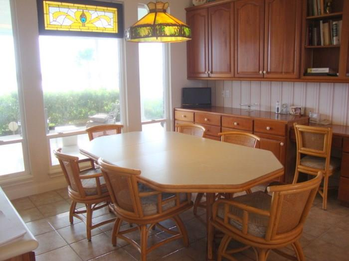 Bamboo Kitchen Table with 6 Chairs