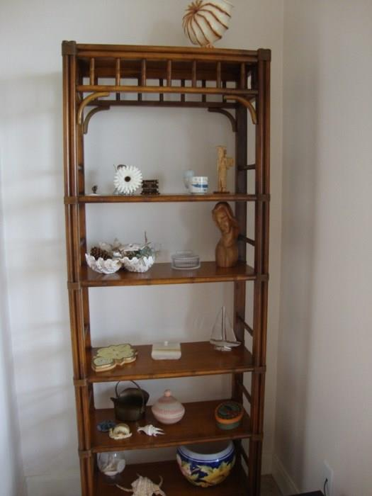 Bamboo Style Étagère Shelf, a matching pair