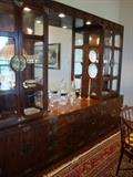 Asian Style China cabinet with Matching Dining Set by Henredon