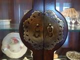 Carved Brass trim On China Cabinet