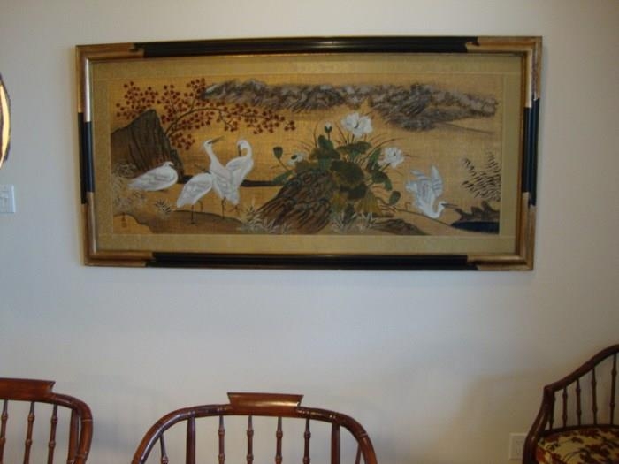 Large Asian Style Painting