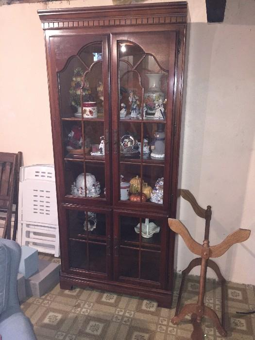 TALL CHERRY GROVE CHINA CABINET BY AMERICAN DREW