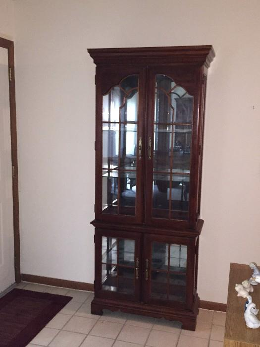 CHERRY GROVE TALL SLIM CHINA CABINET BY AMERICAN DREW