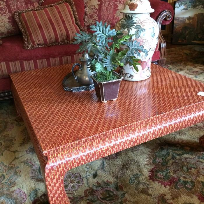 Square Asian style coffee table