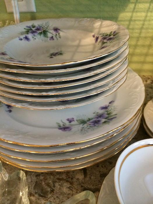 """""""Royal Kents"""" china from Poland  - with violets"""