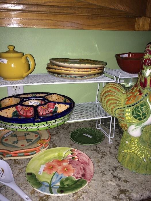 Assorted and colorful dishes