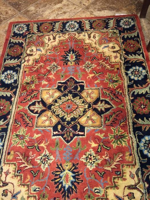 3 feet 6 inches x 5 feet 6 inches wool rug