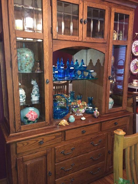 China cabinet with lots of storage for glassware