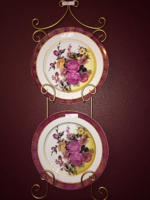Rose plates and plate holder
