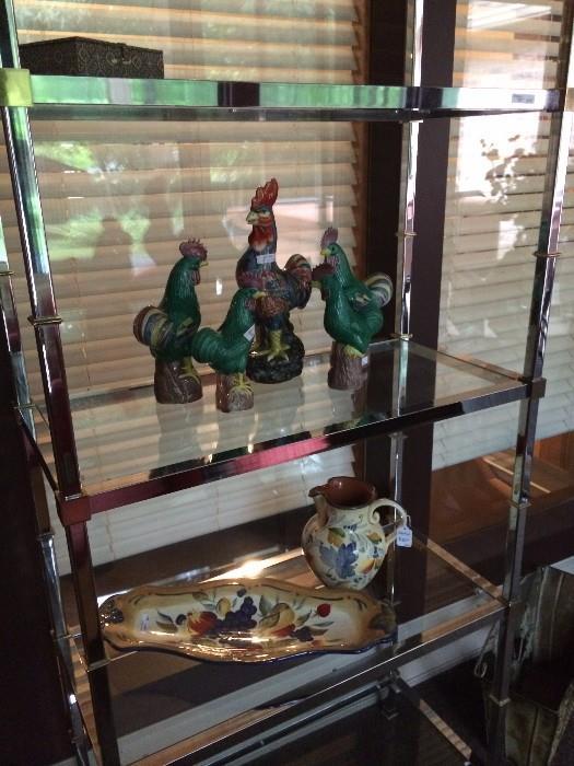 Five shelf etagere