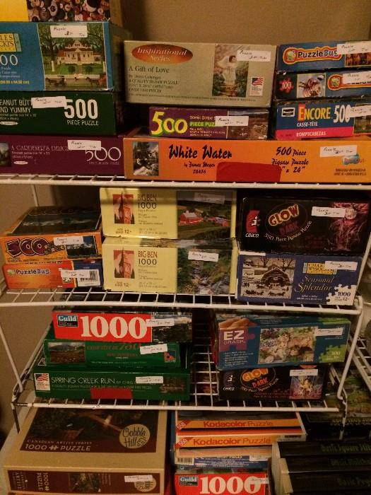 Great assortment of games & puzzles