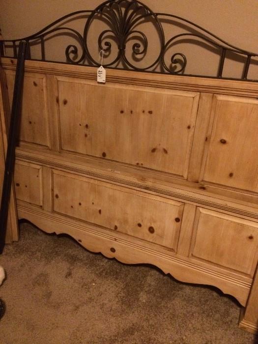Queen headboard has matching dresser & armoire.