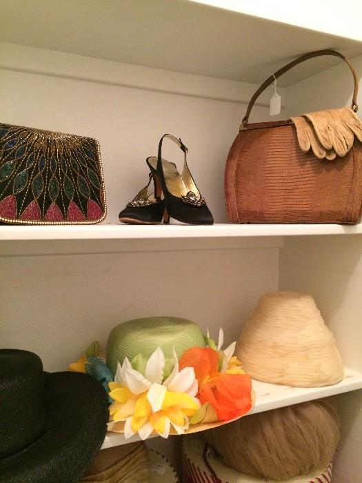Evening bag & shoes;  vintage purse