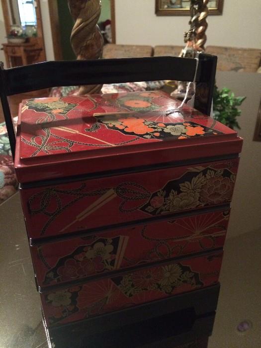 Small Asian stack box