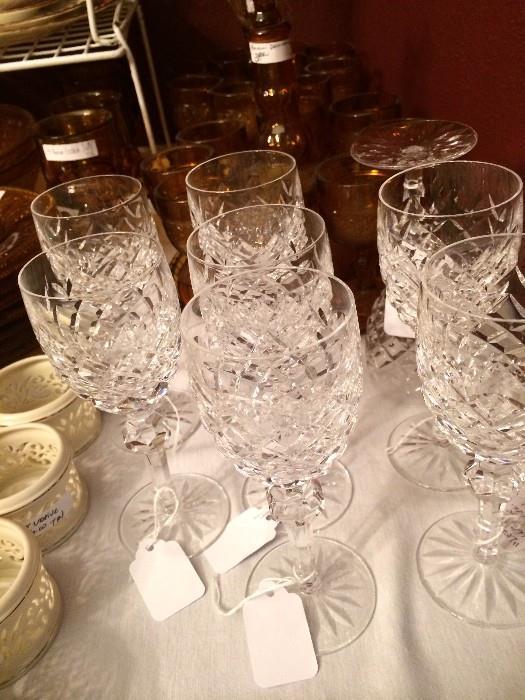 """Lismore"" Waterford wine glasses"