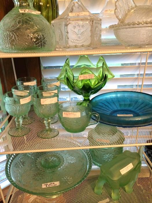 Other colorful glassware