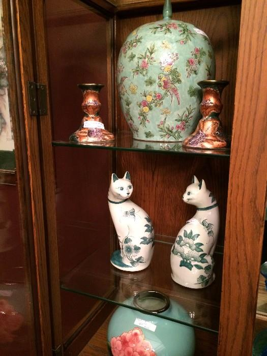 Asian cats, cats, & ginger jars