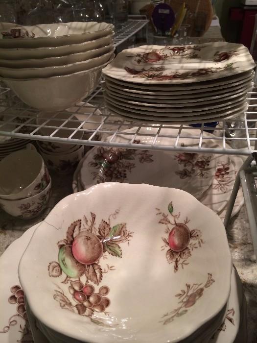 "Johnson Bros. "" Harvest Time"" dishes"