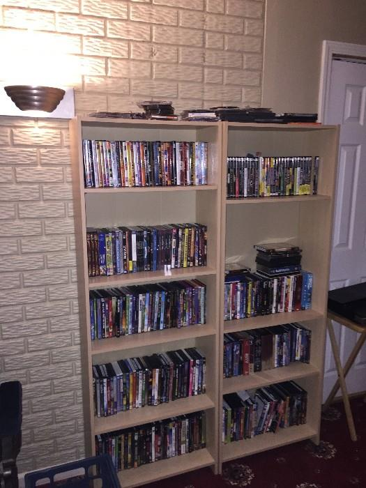HUGE COLLECTION OF DVDS / CDS / VHS TAPES / VIDEO GAMES / RECORDS