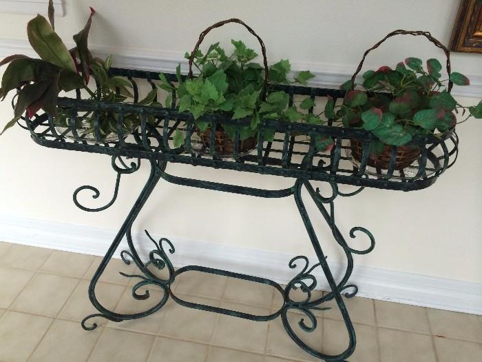 Black iron planter