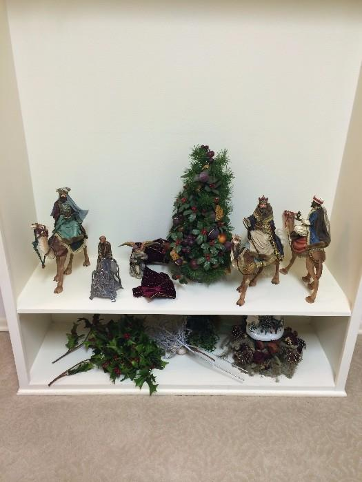 Some of the many Christmas decorations