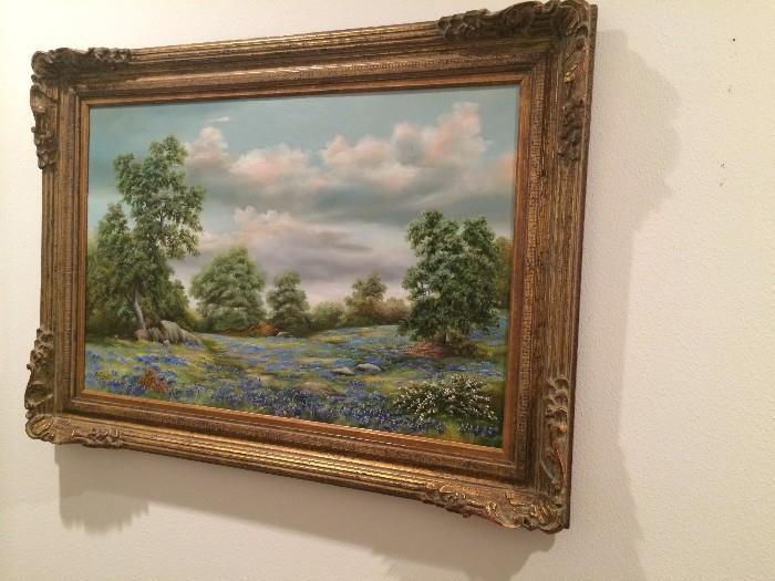 Texas blue bonnets by J Welch