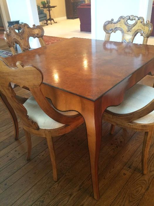 Extra nice game table & 4 chairs